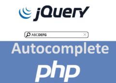 jQuery, PHP ve MySQL ile Autocomplete
